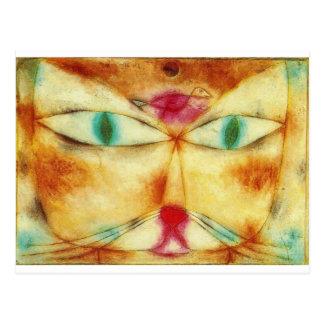 Carte Postale Cat and Bird - Paul Klee