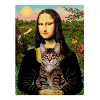 Carte Postale CAT (chat tigré) - Mona Lisa