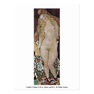 Carte Postale Català : L'Adam I L'Eva, Adam et Ève