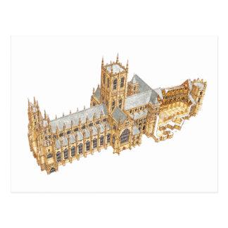 Carte Postale Cathédrale de Cantorbéry. La Grande-Bretagne