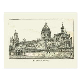 Carte Postale Cathédrale de l'Italie, Sicile, Palerme