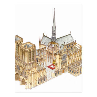 Carte Postale Cathédrale de Notre-Dame. Paris France