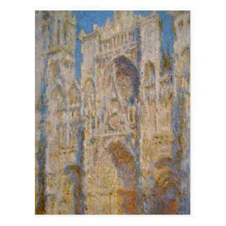 Carte Postale Cathédrale de Rouen, façade occidentale, lumière