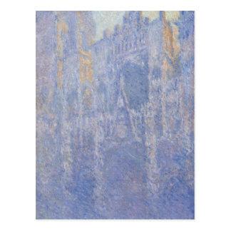 Carte Postale Cathédrale de Rouen, le portail, brouillard de