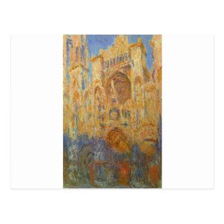Carte Postale Cathédrale de Rouen par Claude Monet