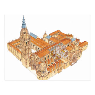 Carte Postale Cathédrale de Toledo. L'Espagne