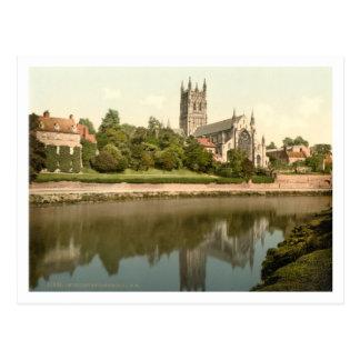 Carte Postale Cathédrale de Worcester, Worcestershire,