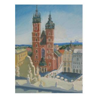 Carte Postale Cathédrale ensoleillée de Cracovie
