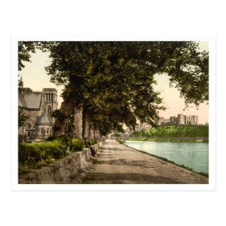 Carte Postale Cathédrale et château, Inverness, Ecosse