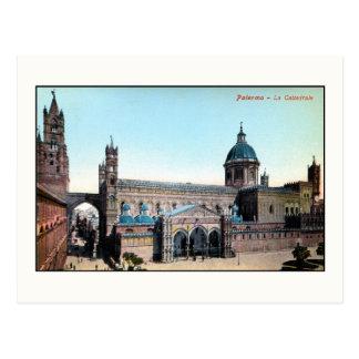 Carte Postale Cathédrale vintage de Palerme Sicile de 1890s