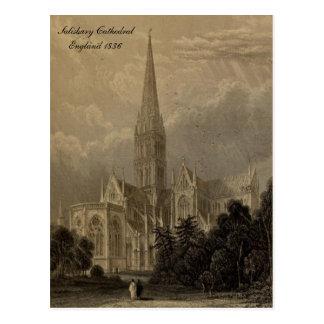 Carte Postale Cathédrales des séries de l'Angleterre : Salisbury