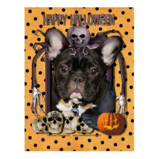 Carte Postale Cauchemar de Halloween - bouledogue français -