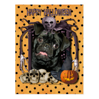 Carte Postale Cauchemar de Halloween - carlin - Ruffy