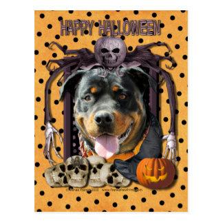 Carte Postale Cauchemar de Halloween - rottweiler - SambaParTi