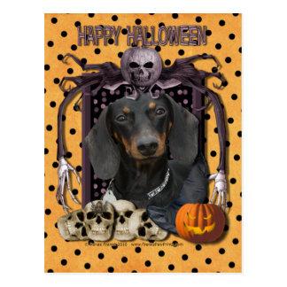 Carte Postale Cauchemar de Halloween - teckel - Winston