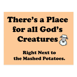 Carte Postale Cauchemar de végétariens