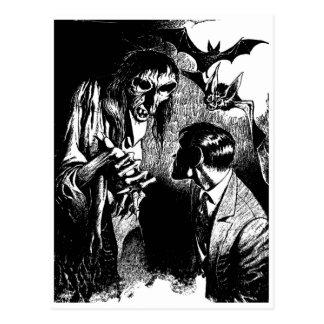 Carte Postale Cauchemar déplaisant de créature d'horreur