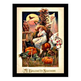 Carte Postale Cauchemar vintage de Halloween