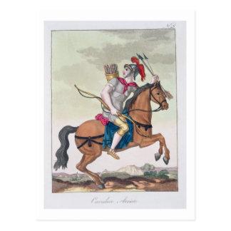 """Carte Postale Cavalerie Archer, de """"L'Antica Roma"""", 1825"""
