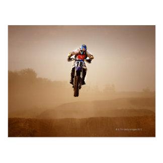 Carte Postale Cavalier de motocross