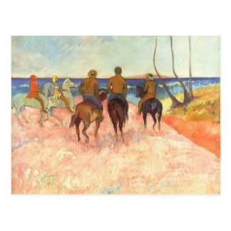 Carte Postale Cavaliers de Paul Gauguin- sur la plage