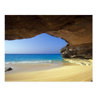 Carte Postale Caverne à la baie française, île de San Salvador,