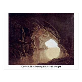 Carte Postale Caverne le soir par Joseph Wright