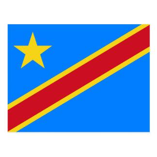 Carte Postale CD de drapeau du Congo