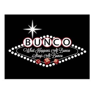 Carte Postale Ce qui se produit aux séjours de Bunco à