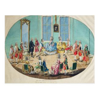 Carte Postale Célébration de nouvelle année à Vienne en 1782,