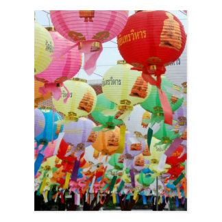 Carte Postale Célébration de temple bouddhiste de la Thaïlande