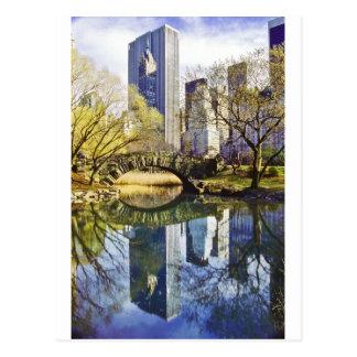Carte Postale Central Park avec la réflexion NYC