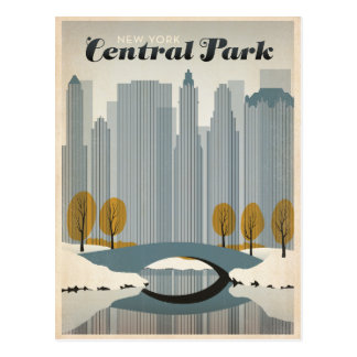 Carte Postale Central Park, NYC - neige