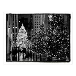 Carte postale centrale d'arbre de Noël de