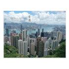 Carte postale centrale de vue aérienne de Hong