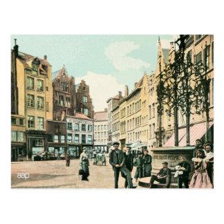 Carte Postale centre de la ville d'Anvers Belgique des années