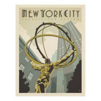 Carte Postale Centre de New York City | Rockefeller