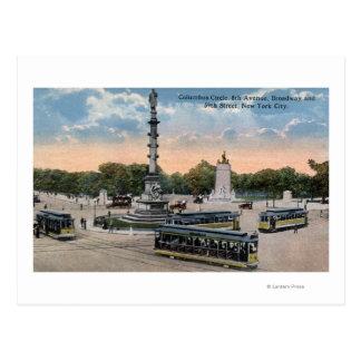Carte Postale Cercle de Columbus et 8ème avenue