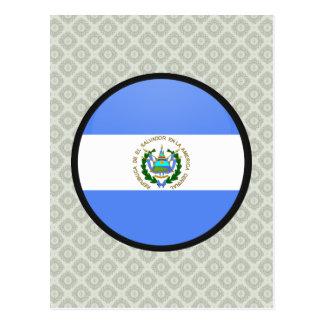 Carte Postale Cercle de drapeau de qualité du Salvador