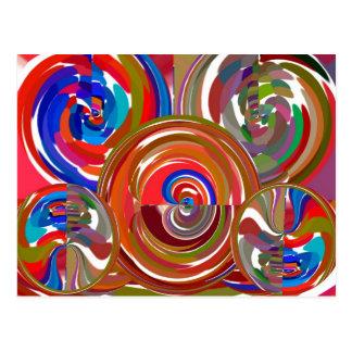 Carte Postale Cercles de nettoyage d'aura - mandala 7 de