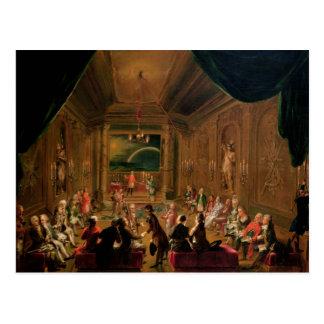 Carte Postale Cérémonie d'initiation dans un maçonnique viennois