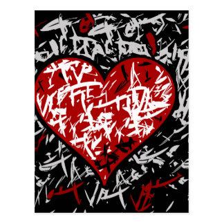 Carte Postale Cerf rouge de graffiti