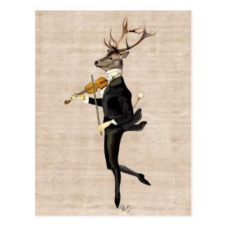 Carte Postale Cerfs communs de danse avec le violon 2