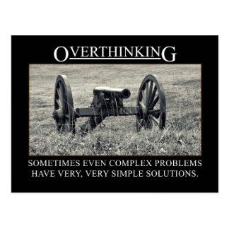 Carte Postale Cessez d'overthinking les solutions aux problèmes