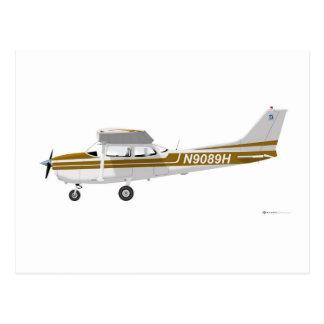 Carte Postale Cessna 172 Skyhawk Brown