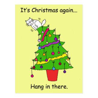 Carte Postale C'est Noël encore, coup dedans là