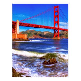 Carte Postale C'est une image de HDR de 3 tirs du Golden Gate