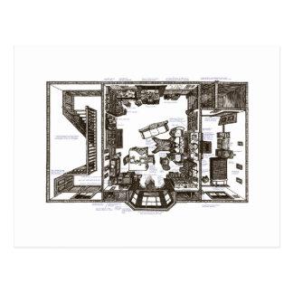 Carte Postale Cet appartement victorien célèbre annoté