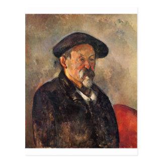 Carte Postale Cezanne - autoportrait avec Barett