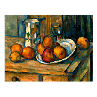 Carte Postale Cezanne - la vie toujours avec la cruche et le
